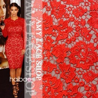 Diy Diamond Painting High-end Fashion Apparel Fabrics Quality Embroidery Cutout Water-soluble Lace Cloth Cheongsam Fabric S5