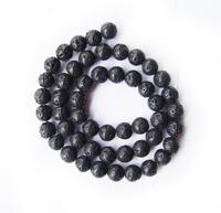 Free Shipping Fashion 4mm Natural Black Volcanic Lava Rock Stone Round Shape Strand Beads For Diy Jewelry Bracelet