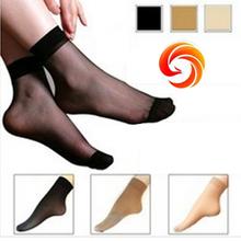 30 peças = 15 pares = 1lot meias femininas transparentes Cristal Meias Ultra -fino curtos de seda Meias não ligar de seda meias anti-estáticos(China (Mainland))