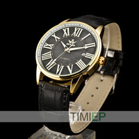 SEWOR New 2014 Mens Woman Gold Skeleton Transparent self-wind automatic watch Men