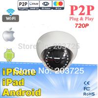 Onvif 2.0 Megapixel Plug and Play Wireless HD Network Built-in Wifi IR-Dome Camera Mini 720P IP Camera