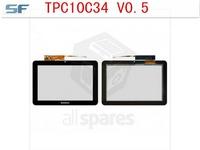 Touchscreen for Lenovo IdeaTab S2007 Tablet, (black) #TPC10C34 v0.5