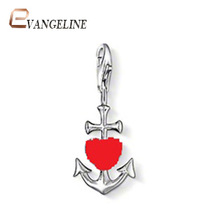 Free Shipping diy ts fashion charms bracelet alloys silver plated fashion enamel jewelry The arrow of Cupid pendant  TS043
