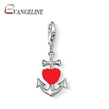 Free Shipping diy ts fashion charms bracelet alloys silver plated fashion enamel jewelry The arrow of Cupid pendant  TS043