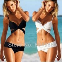Crazy beach bikini sexy bandage push up bandeau swimwear women swimsuit the bathing suit beachwear