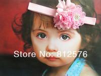 "Baby flower headband 2.5"" lace flower combination headband newborn headbands 15pcs/lot"
