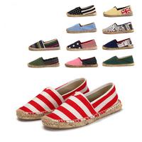 2015 Women men canvas flat fisherman shoes rubber boots hemp rope sole sandal shoes Health breathable shoes wholesale
