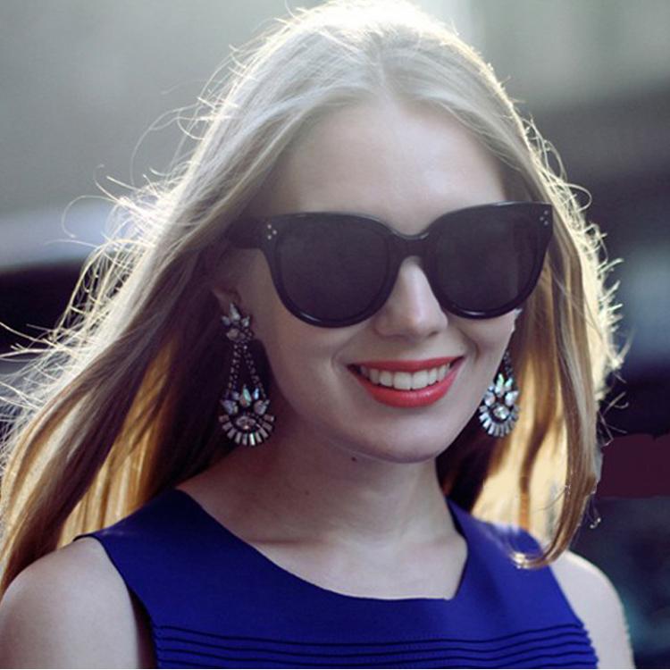Hot Sale 2014 New Fashion Designer Brand Sunglasses CL41755 Novelty Style Glasses Black Import Plate Polarized Lens Retail(China (Mainland))
