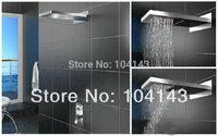"Hot Sale 22"" Luxury Square Rectangular Big Rainfall Wall Mounted Shower Head Chrome Shower Set 50038/1"