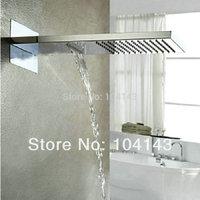"L50038 Luxury 22"" Square Rectangular Big Rainfall Wall Mounted Shower Head Chrome Shower Set"