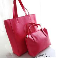 2014 Hot New fashion vintage mother crocodile pu leather six-color women handbag women messenger bags shoulder bag big bag