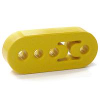 Free Shipping Universal Lengthened Polyurethane Exhaust / Muffler Hanger - Yellow