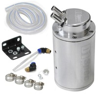 Free Shipping  High Quality Universal Aluminum Oil Catch Reservoir Can Tank-Silver