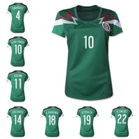 wholesales  2014 Thailand quality Women mexico soccer jerseys home Free shipping mexcio women shirts