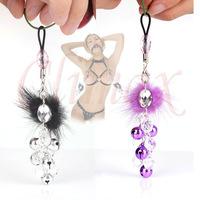Alternative sex toys bell nipple clamps shaking stimulate milk clip overcast female breast clip massage