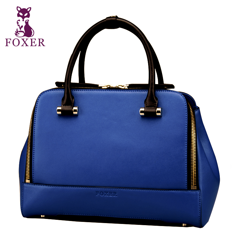 FOXER women leather handbags designers brand new 2015 vintage shoulder bag famous brands women messenger bags fashion tote(China (Mainland))