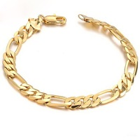 Romantic  18K yellow Gold plated  Women charming Bracelet hollow Strap best gift