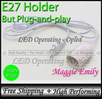 e27 base socket for E27 led lamp bulb, Plug-and-play E27 holder, switch to control E27 Plug Europe UK Russia power cord