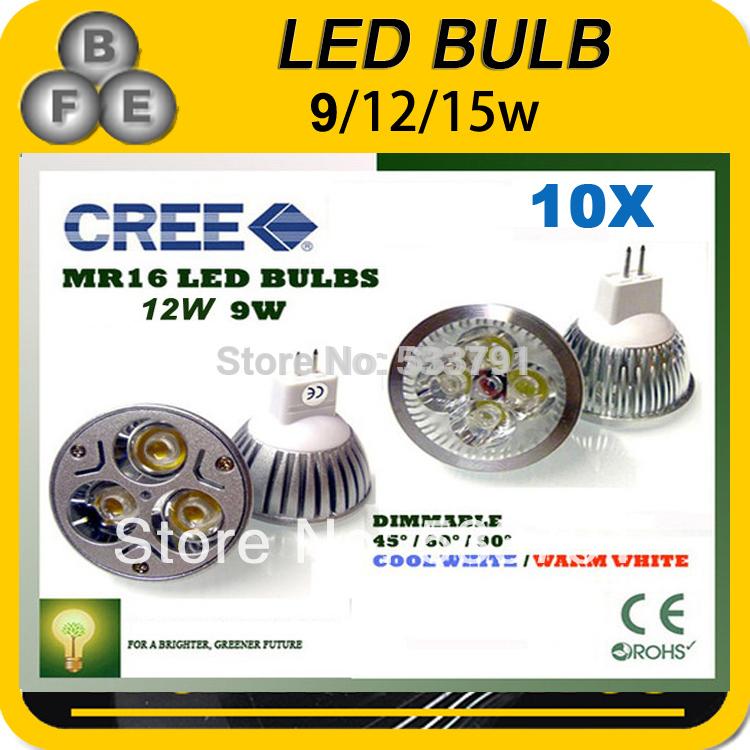 GU 10 MR16 GU 5.3 LED 220V 12V 9W 12W 15W GU10 LED LAMP MR 16 12V LED SPOTLIGHT WARM WHITE COOL WHITE(China (Mainland))