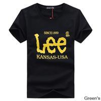 The new summer 2014 men's plus size t-shirt tide male Korean popular short-sleeved t-shirt brand a-3