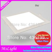 3pcs/lots 9W Led Panel 870LM Square Shape 110v 220v 240v downlight SMD 2835 ceiling light Warm White Cool White painel led