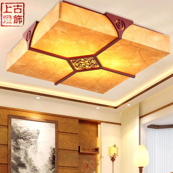 Ancient Chinese handmade wood ceiling lamp bedroom lamp den restaurant sheepskin classic lamps lighting 1012(China (Mainland))