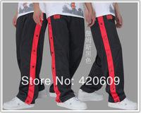 Hot Plus Size Fashion 2014 Active Basketball Training Button Pants Men Soccer Athletic Football Trousers Designer Leg FREE ShIP