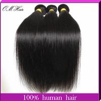 OM Hair:Malaysian Virgin Hair Straight 100% Cheap Human Hair Weave 4pcs/lot Free Shipping Queen Love Hair Weaves 100g/pc #1b