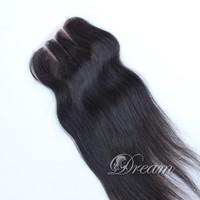 "Virgin Brazilian Hair Lace Top Closure(4""*4"") Silky Straight 8"" -20 Inch Grade 6a 100% Human Hair Full Hand Tied 120% Density"