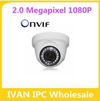 Top Quality 1080P HD IP Dome Camera Network P2P Onvif 20Pcs IR Led Night Vision CMOS 2.0MP Pixels MTV Lens 2.8-12mm