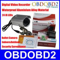 Aluminium Alloy Bullet Camera 1/4 COMS Supports CIF or VAG Image Resolution DVR Night Version 20M Indoor Outdoor Surveillance