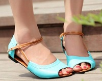 CooLcept free shipping quality flat beading bohemia sandals women sexy fashion lady shoes P11938 hot sale EUR size 35-40