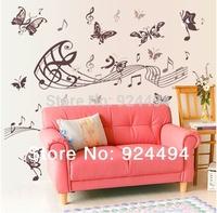 Free shipping DIY Romantic notes Nabi living room TV backdrop wall stickers room decor romantic bedroom