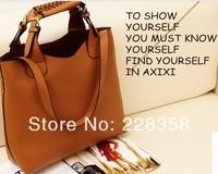 2014 Women Messenger Bag Shoulder handbag women PU Leather handbag high quality hot selling vintage bag 3 colors fashion handbag