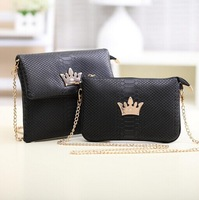 Korean version of the new fashion handbags crocodile pattern retro crown packet chain bag hand shoulder bag diagonal  B057