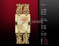 Fashion Luxury Top Woman Dress watch Fashion ladies Gold Silver Steel bracelets bangles brand suppose gu wrist watch