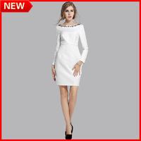 NEW ARRIVALSIZE S-XXXXL 2014 Fashion WOMEN BLACK AND WHITE Printing On The Neck Plus Size Sixy Clothing Girls One-piece Dress