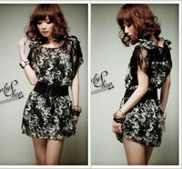 Dresses Direct Selling Dropped A-line free Shipping 2014 New Summer Women Bohemian Dress Chiffon Floral Big Yards S-xxxl 10013#