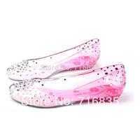 2014New Ladies Melissa Diamond Crystal Sandals Women Swarovski Fish Mouth Transparent Jelly Shoes/rhinestone sneaker size 36--41