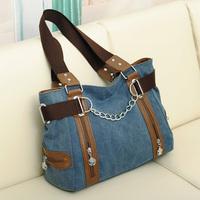 New arrival big canvas bag women's shoulder bag vintage fashion women handbag