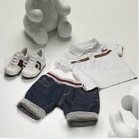 hot sale! 2014 newest fashion summer children clothing boys POLO suit set 2 pcs/set short sleeve t-shirt+shorts classic 12M-5Y