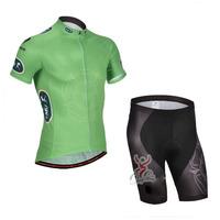 SWODART 2014 New Arrival Mens Pro Team Green Bicicletas Shorts Suits 1 suits Drop Shipping