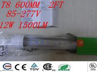 Free Shipping 1pcs led light tube T8 600mm Top quality led lamp bulb SMD 2835 Epistar 1000lm led bulbs tubes CE & ROHS