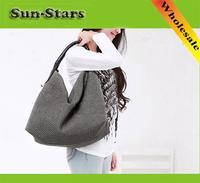 New female Lady OL Fashion Lady Cotton Fabric Handbag Big Capacity Tote Bag Satchel Shoulder Bag for women