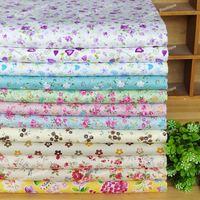 12 Assorted Floral Print Pre-Cut Twill Cotton Quilt Fabric Fat Quarter Tissue Bundle Set A Charm Sewing Handmade Textile 45x45cm