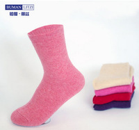 Female anti-odor wool socks women's cashmere thick thermal cute candy color socks 13 different kinds color for choose 6pcs\lot