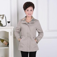 Quinquagenarian spring and autumn female thin outerwear middle-age women spring outerwear