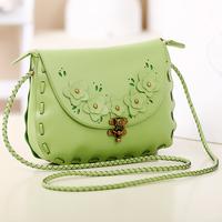 Small women messenger bags 2014 fashion fresh woven bag vintage tote shoulder crossbody handbags leather design brand package