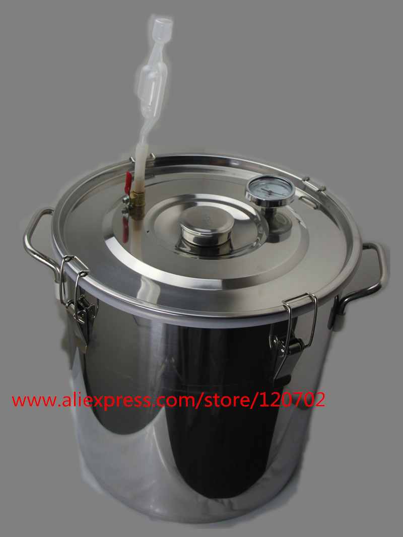 30 L stainless steel bucket fermentation tank for vodka moonshine whisky wine beer bucket(China (Mainland))