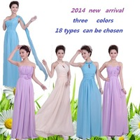 2015 six  types free shipping  2015 new Bridesmaid formal dress long design  dress  sister dress formal dress.